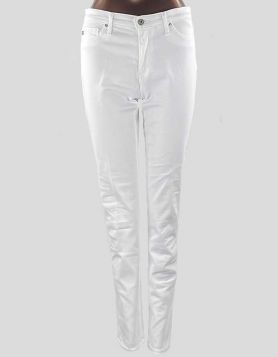 AG Adriano Goldschmied women's The Prima mid-rise cigarette jeans in white. Size 28 R