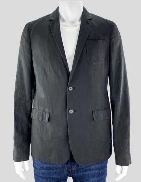 All Saints Grey Cotton Blazer - Medium