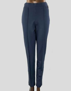 Anne Klein high-waist navy blue legging pants with elasticated waist and pull-on style. Size: 8 US