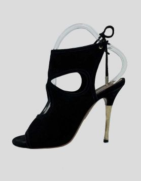 AQUAZZURA Sandals in black suede Size 35.5 IT