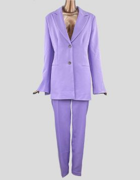 ASOS purple pantsuit with split-sleeve blazer. Size 10 Tall US
