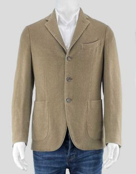 Boglioli deconstructed 'K Jacket' sport coat in 100% cashmere. Featuring notched lapels & double back vent. Five pockets. Satin lining in sleeves. Size 38 US
