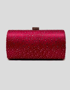 Pink Jewel Box Clutch with Crystals