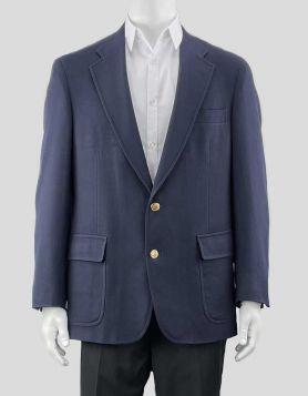 Brooks Brothers Navy Blue  Wool Blazer | US 42 R