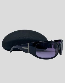 Bruce Oldfield Black Wrap Sunglasses