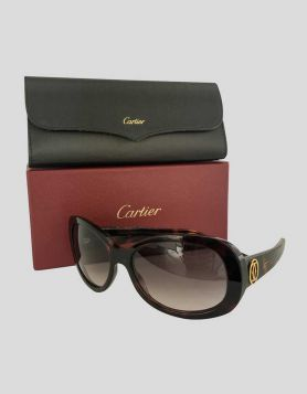 Cartier Women's Sunglasses Tortoise