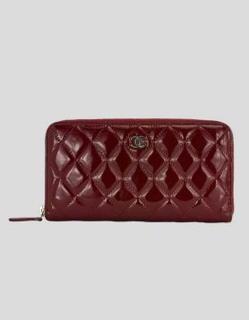 Chanel Burgundy Patent Leather Wallet