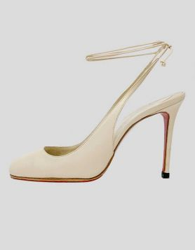 Christian Louboutin Cream Heels - 38.5 IT | 8.5 US