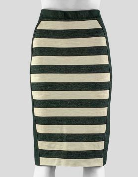 Derek Lam 10 Crosby Striped Skirt - Small