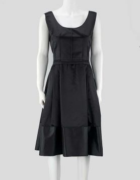 Dolce & Gabbana black sleeveless silk dress