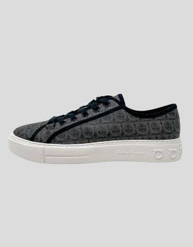 Salvatore Ferragamo Anson low-top sneakers in allover signature Gancini-print canvas
