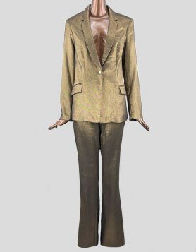 I.N.C. International Concepts luxe gold metallic pant suit in a shimmery style, for evening wear Size: Large