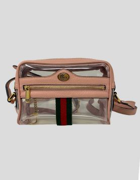 Gucci Clear PVC Ophidia Mini Transparent Bag