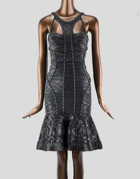 Hervé Léger Evelina black mini dress