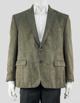 Lauren Ralph Lauren Men's 'Linley' Faux-Suede Blazer with notched lapels & single back vent. Size 46 R US