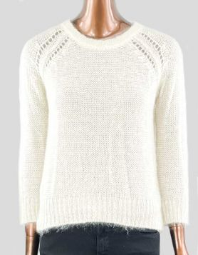 Étoile Isabel Marant pullover crewneck sweater in loose-knit mohair. Long sleeve. 34 FR
