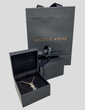 Jacquie Aiche Triple Oval Aquamarine Necklace