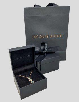 Jacquie Aiche Triple Oval Aquamarine Necklace