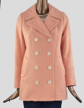 J. Crew women's Peacoat crafted in sturdy double-serge wool, notch lapel collar, button closure and welt front pockets. Size 2 US
