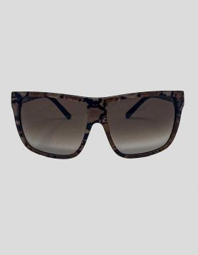 Jimmy Choo women's Oversized Gradient Sunglasses in brown acetate with gradient lenses