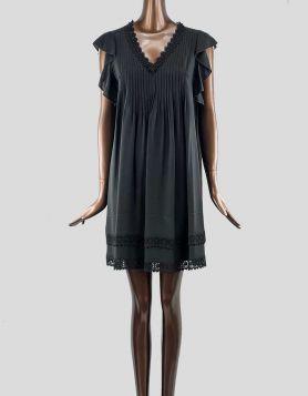 Johnny Was Black Mini Dress | Medium
