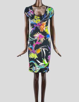 Just Cavalli printed mini dress. Medium