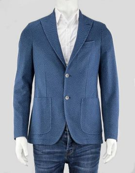 Sartoria LaTorre men's weave sport coat with notched lapel with three front pockets, including one single chest pocket. Size 40 US