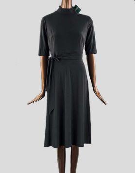 Lauren Ralph Lauren Sloane Matte Jersey dress with mock turtleneck and elbow sleeves. Concealed back zipper. Size: 8 US