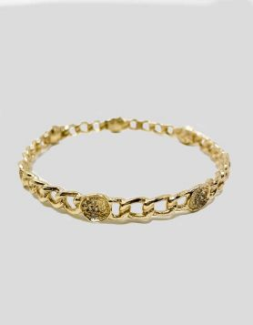 Melinda Maria Margaret' Pod Bangle bracelet with chain-link accent