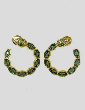 Melinda Maria Green Snake Earrings