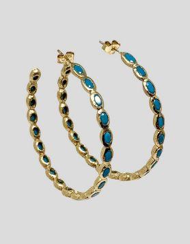 Melinda Maria Isla Hoops Turquoise