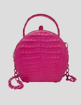 Nancy Gonzalez fuchsia Billie Box Bag in genuine crocodile