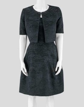 Oscar de la Renta sleeveless dress and matching Bolero jacket