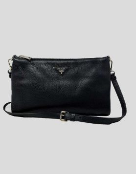 Prada calf leather crossbody bag