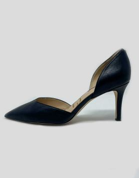 Sam Edelman Jaina D'Orsay Pump in black leather. Size 7.5M US