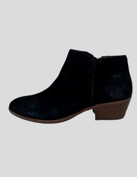 Sam Edelman Petty Black Suede Ankle Boots - 8.5 US