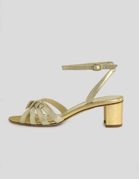 Sarah Flint Strappy Gold Sandals - 40.5 IT | 10.5 US