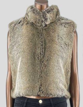 SKEA Reversible Faux Fur/Suede Vest. Size: Small