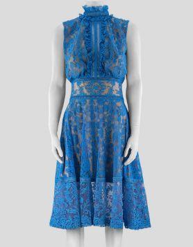 Tadashi Shoji Blue Lace Dress - 2 US