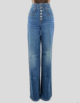 "Veronica Beard Rosanna 13"" Corset 5-pocket jeans with button-front closure. Size 30 US"