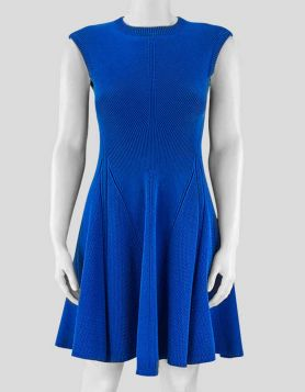 Victoria Beckham royal blue, A-line silhouette dress made of stretch knit